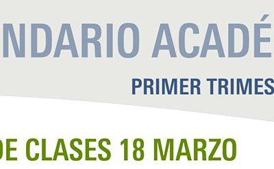 Calendario Académico Primer Trimestre 2019